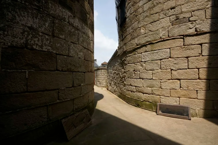 Eastern State Penitentiary, a haunting presence, its alleys and cell blocks saved from the wrecking ball.