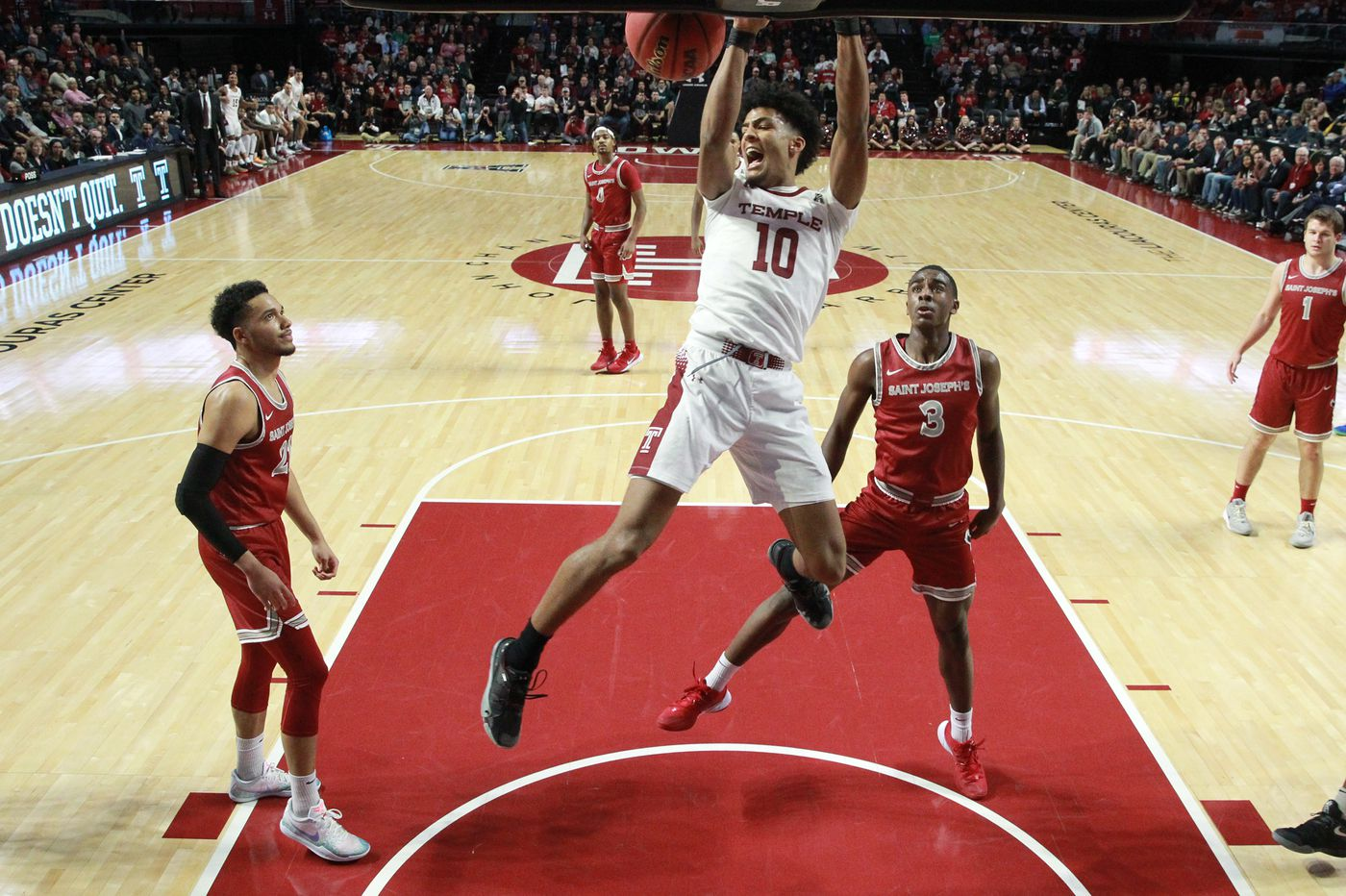 Temple 108, St. Joseph's 61: Statistics, highlights and reaction from the Owls' dominant win