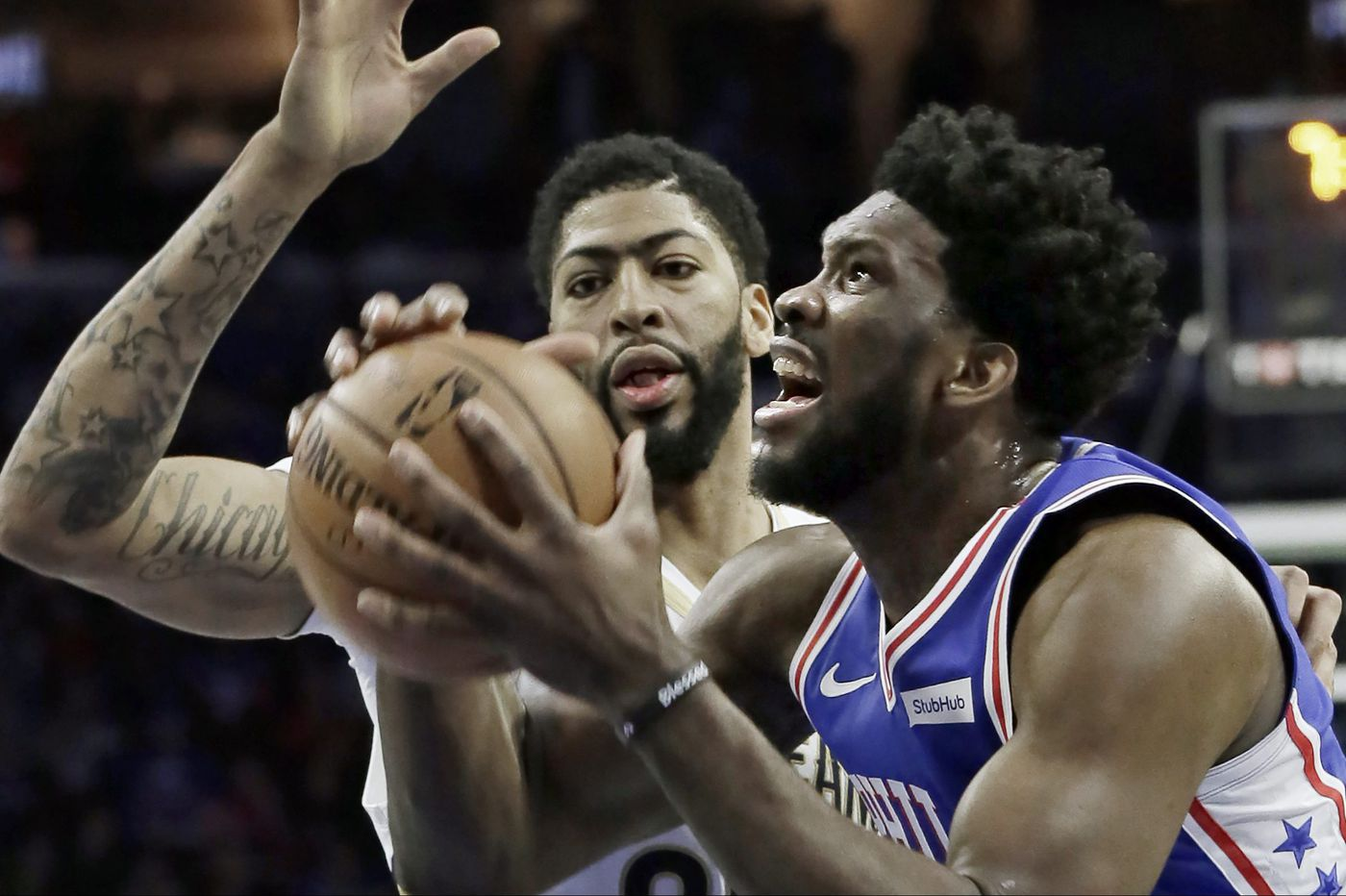 Joel Embiid and Sixers beat Pelicans, 121-120, for fourth straight win
