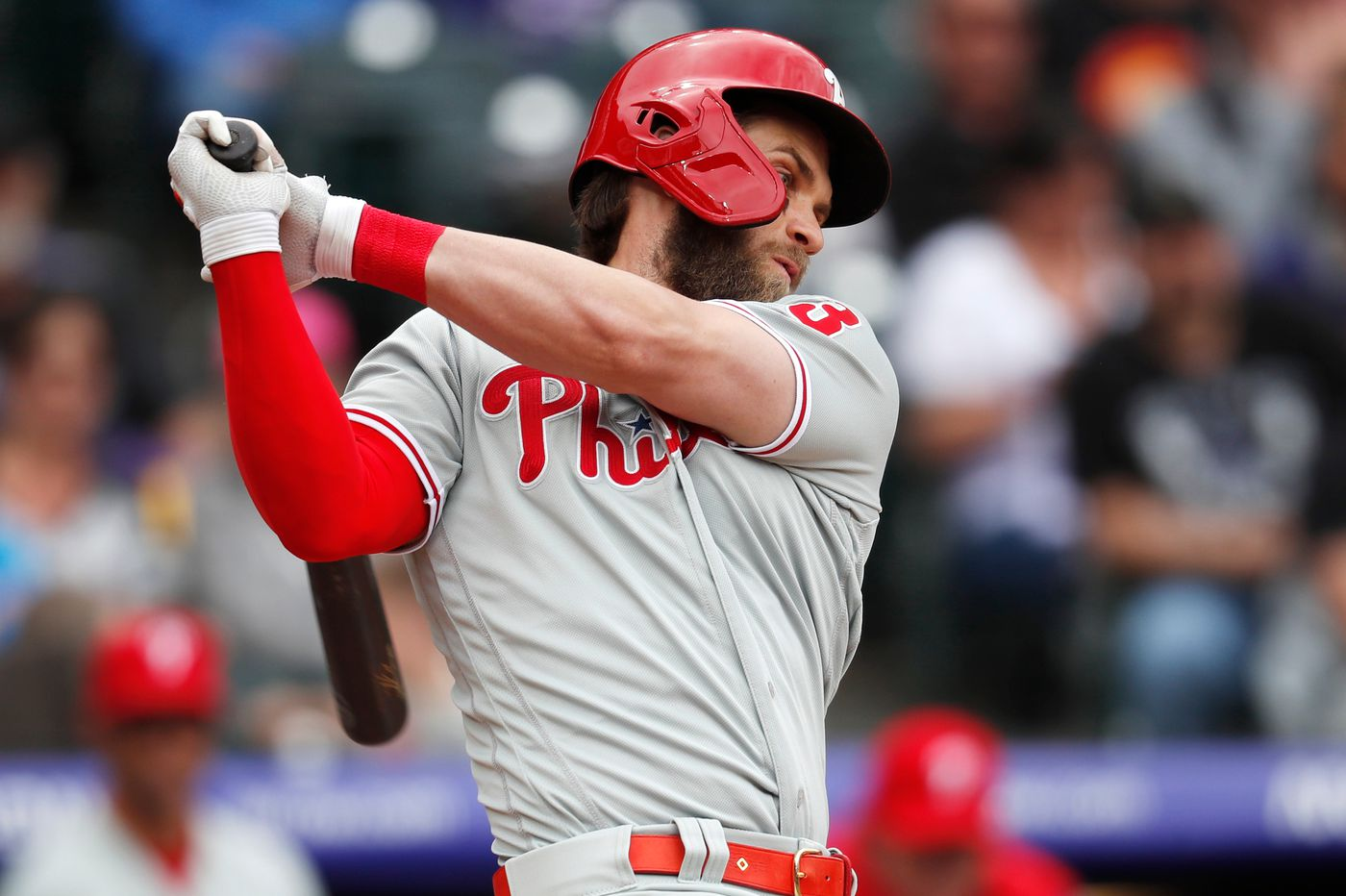 Phillies lose, 4-1, to drop three of four to Rockies after late rally falls short