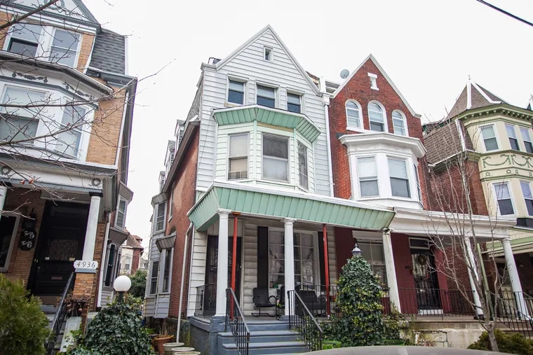 The three-story Victorian twin, in the Cedar Park area of West Philadelphia, has plenty of space for a family.