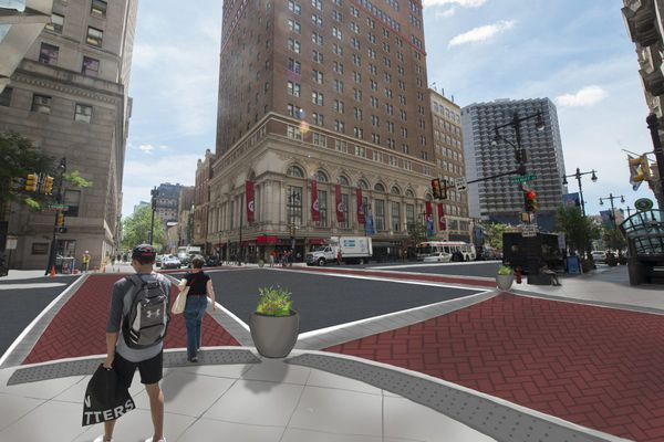 Safety improvements prepare South Broad Street for a residential future