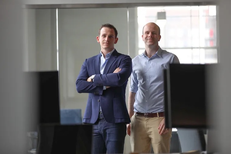 Max Bichsel, U.S. sales director (L), and Phil Richards, U.S. general manager, of Kambi, a European sports-betting operator that is setting up its U.S. headquarters in Philadelphia.