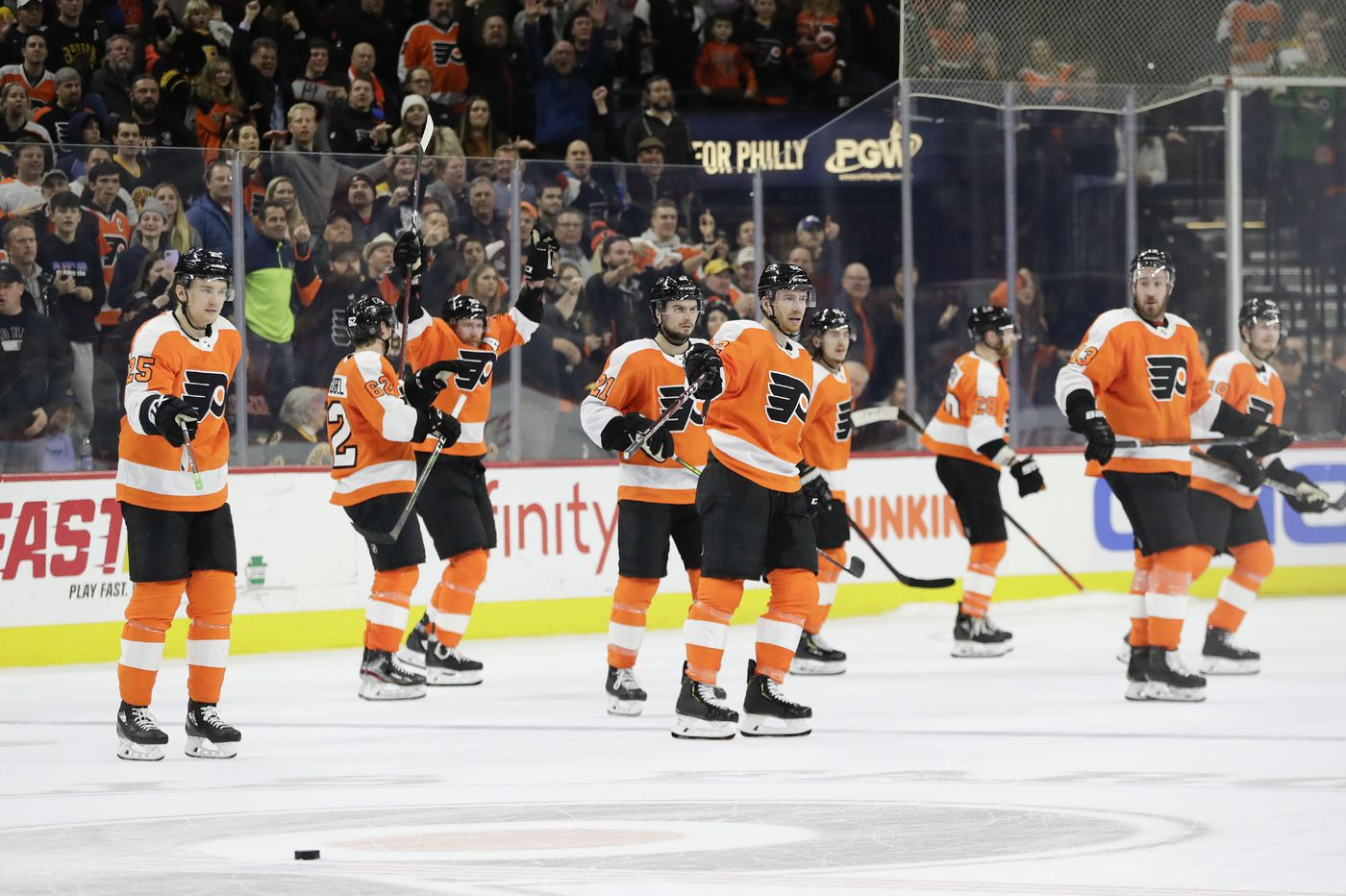 Carter Hart, Brad Marchand talk epic flub that led to Flyers' win over Bruins | On the Fly