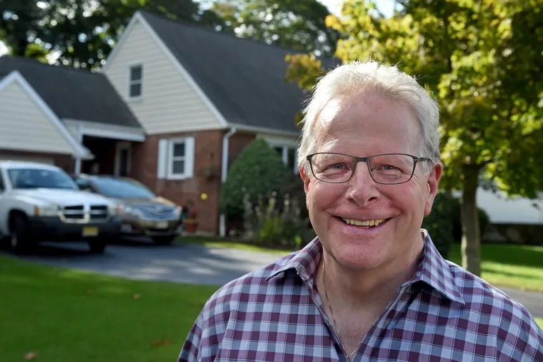 Greg Bruno in the front of his home in Cherry Hill's Erlton North neighborhood. He is a leader representing several civic associations of residents of Cherry Hill's west side who are upset about the township's new master plan.