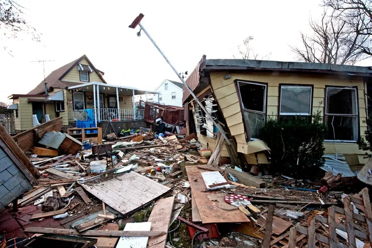 Hurricane Sandy destroyed houses and scattered belongings when it hit Nov. 12, 2012. Homeowners can ease recovery from natural disaster by creating an inventory of their possessions.