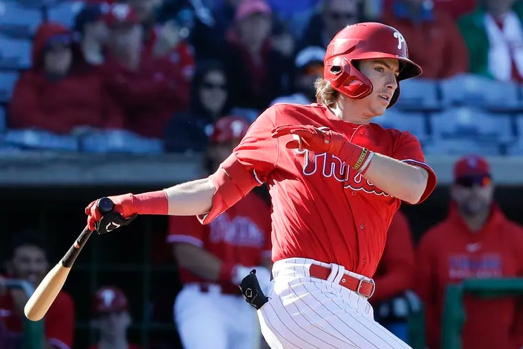 Phillies shortstop prospect Bryson Stott went into the final weekend of the minor-league season with 15 homers and an .872 OPS in 101 games between two levels.