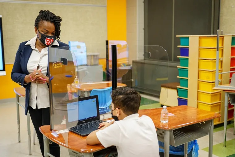 Justina Bigelow, a 2nd grade teacher at Potter-Thomas Elementary School in North Philadelphia, spent part of her year simultaneously teaching students in person and remotely. Virtual learning would never be her first choice, she said, but she and her students made the most of the year.