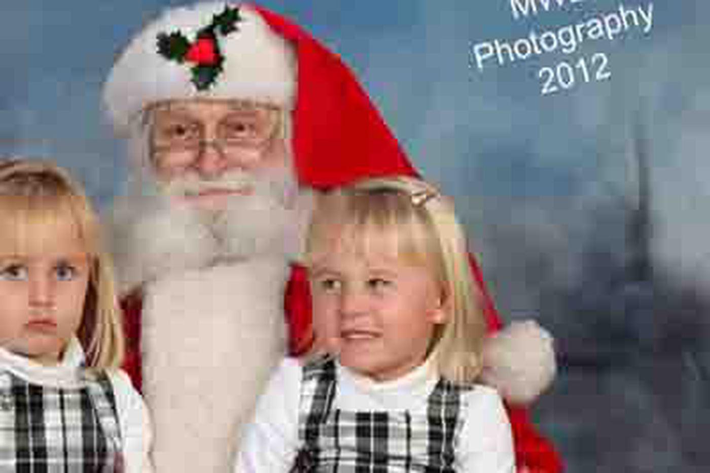 Little girl on Santa's lap flips the bird in best Christmas photo ever taken