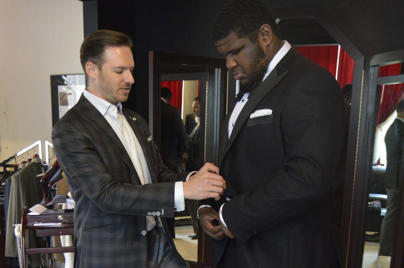 This future college footballer was too big for a regular tuxedo. So custom clothier Henry A. Davidsen made one for him   Elizabeth Wellington