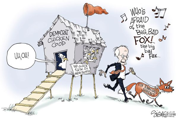 Political Cartoon: Bernie Sanders' Fox News town hall