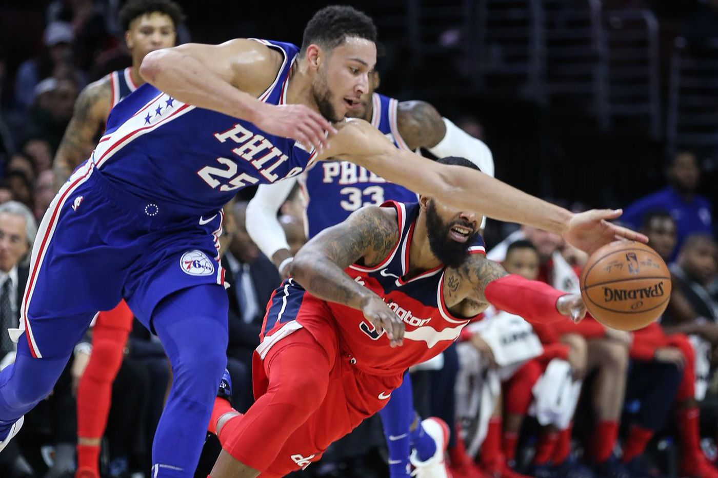 Ben Simmons, Sixers hold on to beat Wizards, 118-113