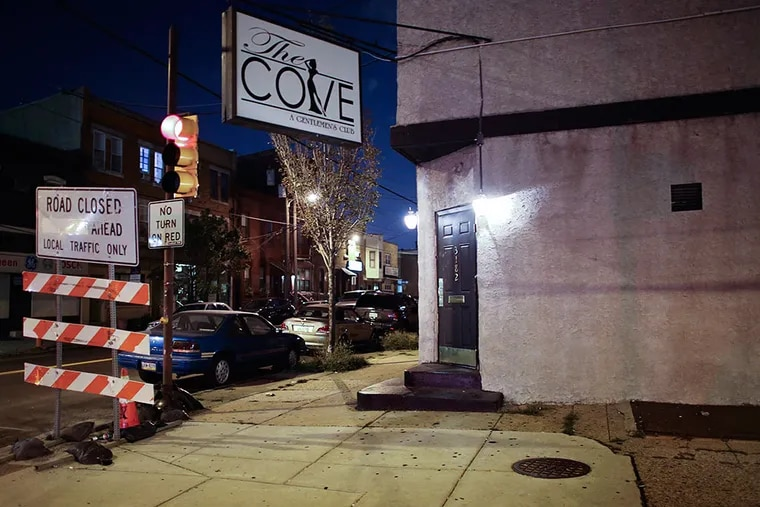 Authorities say Michael Watts, of Voorhees, forced a 20-year-old woman to dance at this Port Richmond strip club, the Cove. JOSEPH KACZMAREK / FOR THE DAILY NEWS