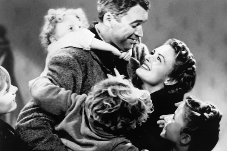 """""""It's a Wonderful Life"""": Jimmy Stewart and Donna Reed starred as George and Mary Bailey in the 1946 movie."""