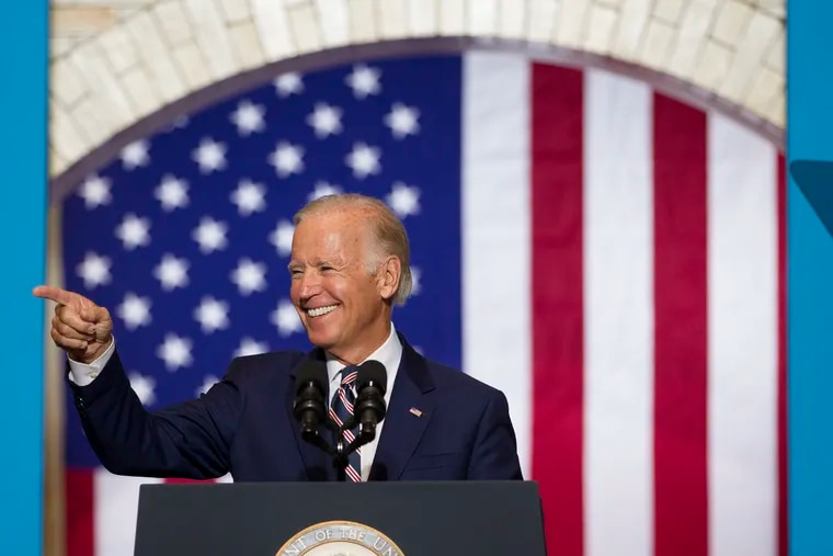 Vice President Joe Biden campaigning at Drexel University in September 2016.