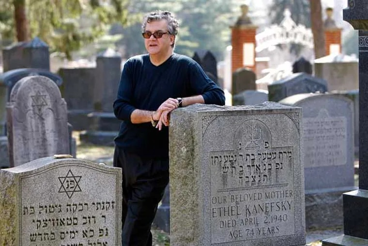 Executive Director of the Jewish Federation of Cumberland County Kirk Wisemayer photographed in the Alliance Cemetery on March 9, 2009. The group he represents wants to move old and abandoned synagogues into the area around the cemetery.  They also plan to restore the old Bayuk home. The plan would create an attraction for tourists.