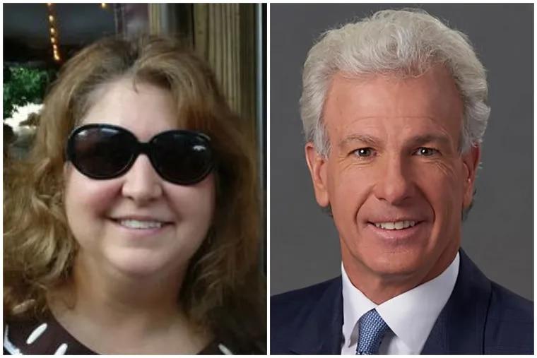 Former Workers' Compensation Judge Andrea McCormick, left, and Sam Pond.