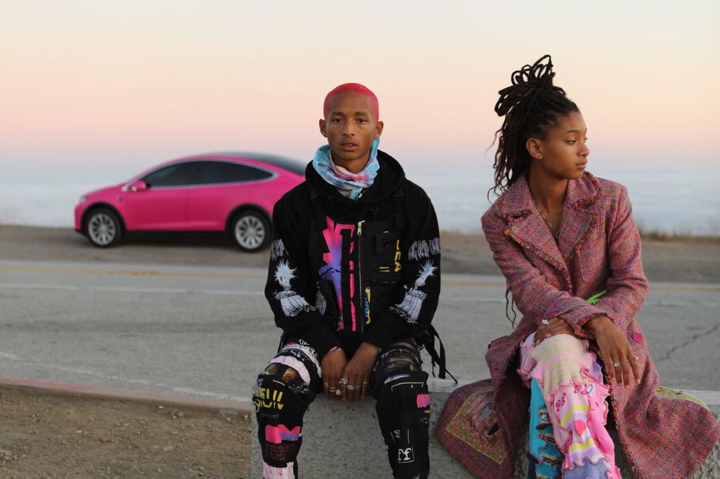 Will Smith hopped onstage with Willow and Jaden at their Philly concert last night