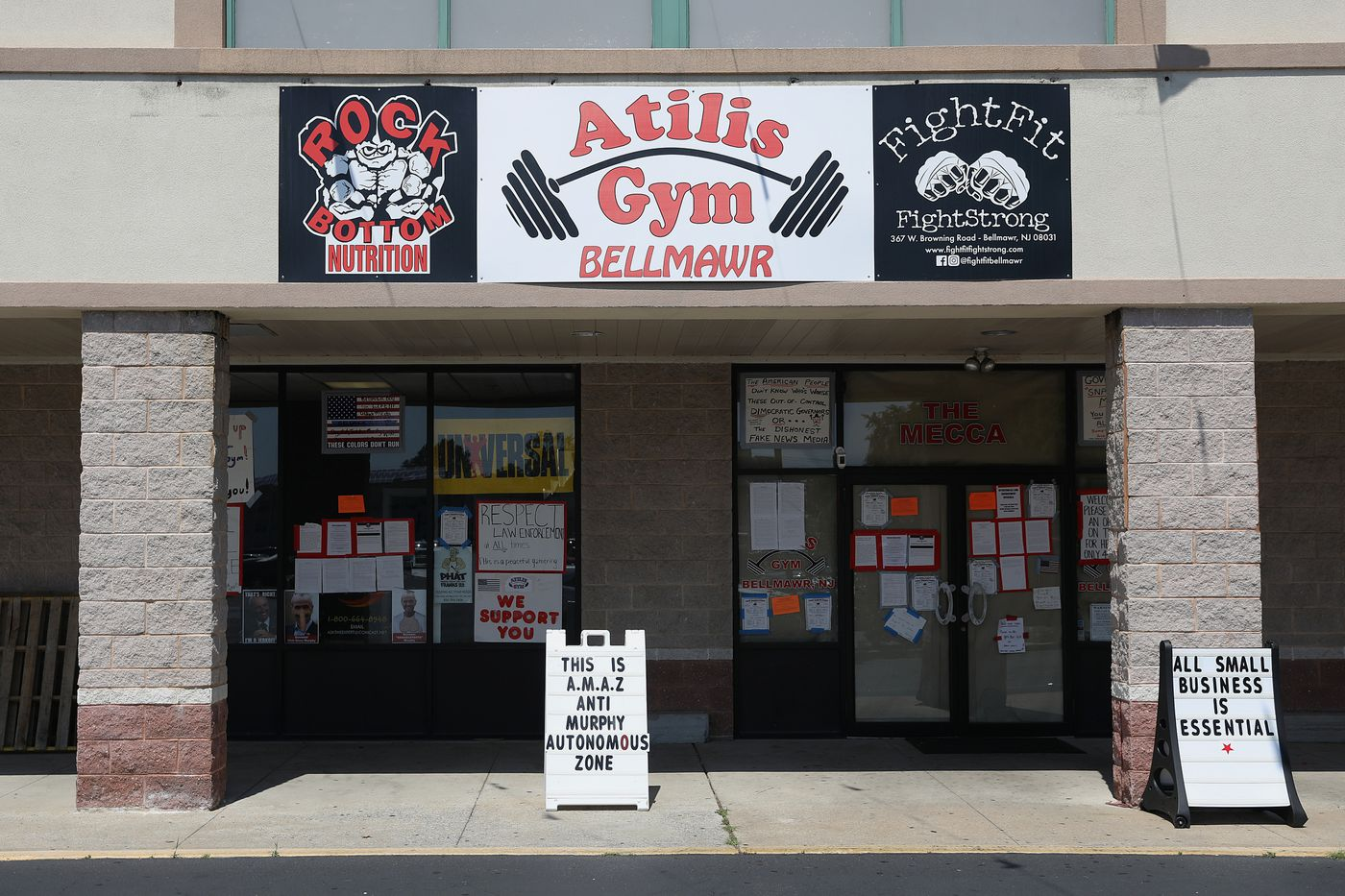 Atilis Gym has reopened against New Jersey's coronavirus restrictions and is allowing up to 70 members inside at a time, but a judge denied Monday the state's request to hold its owners in contempt of court, instead ordering the gym to comply with tighter limitations on gym usage.