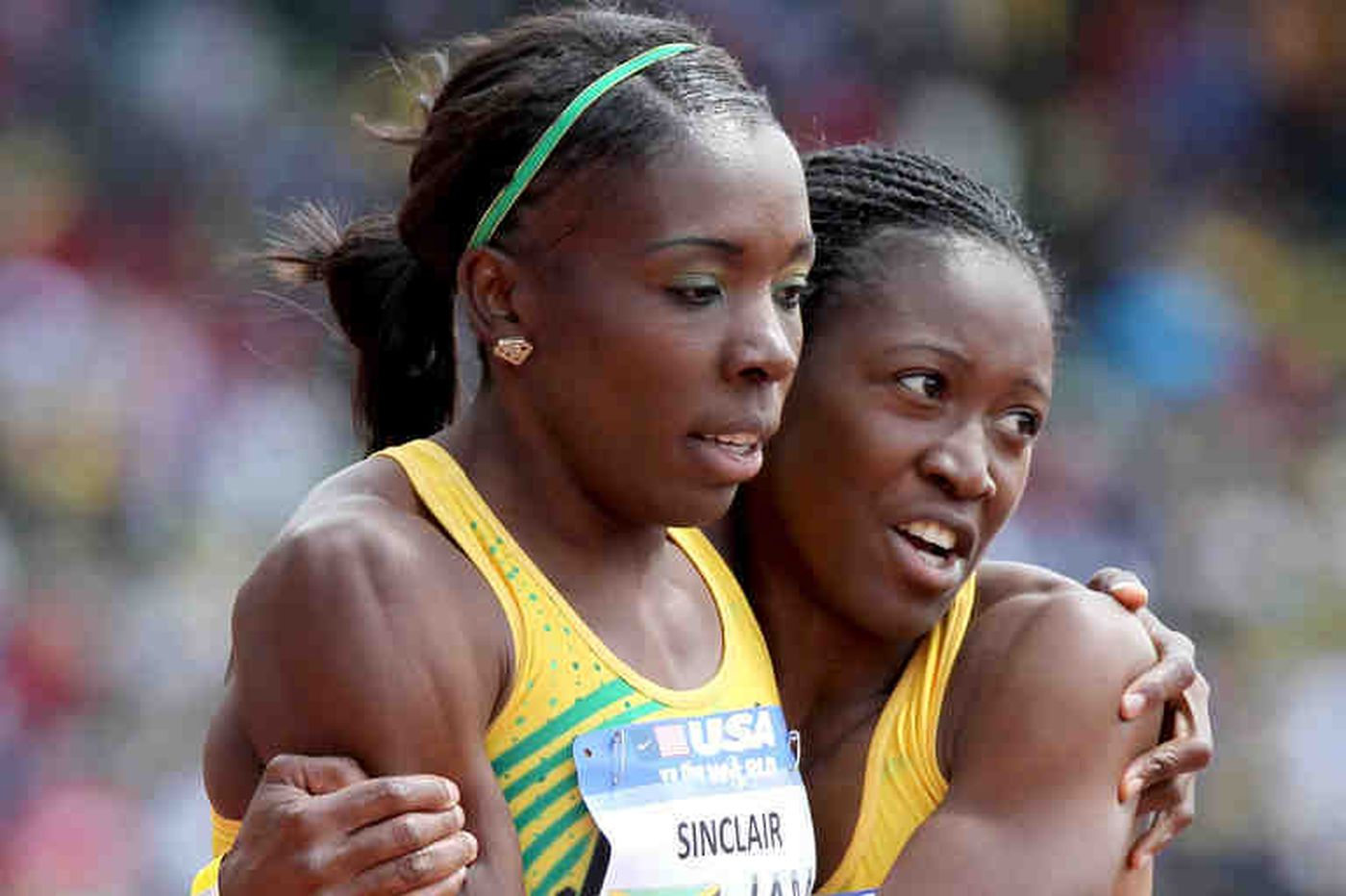 Americans romp in women's 4x100-meter USA vs. the World race