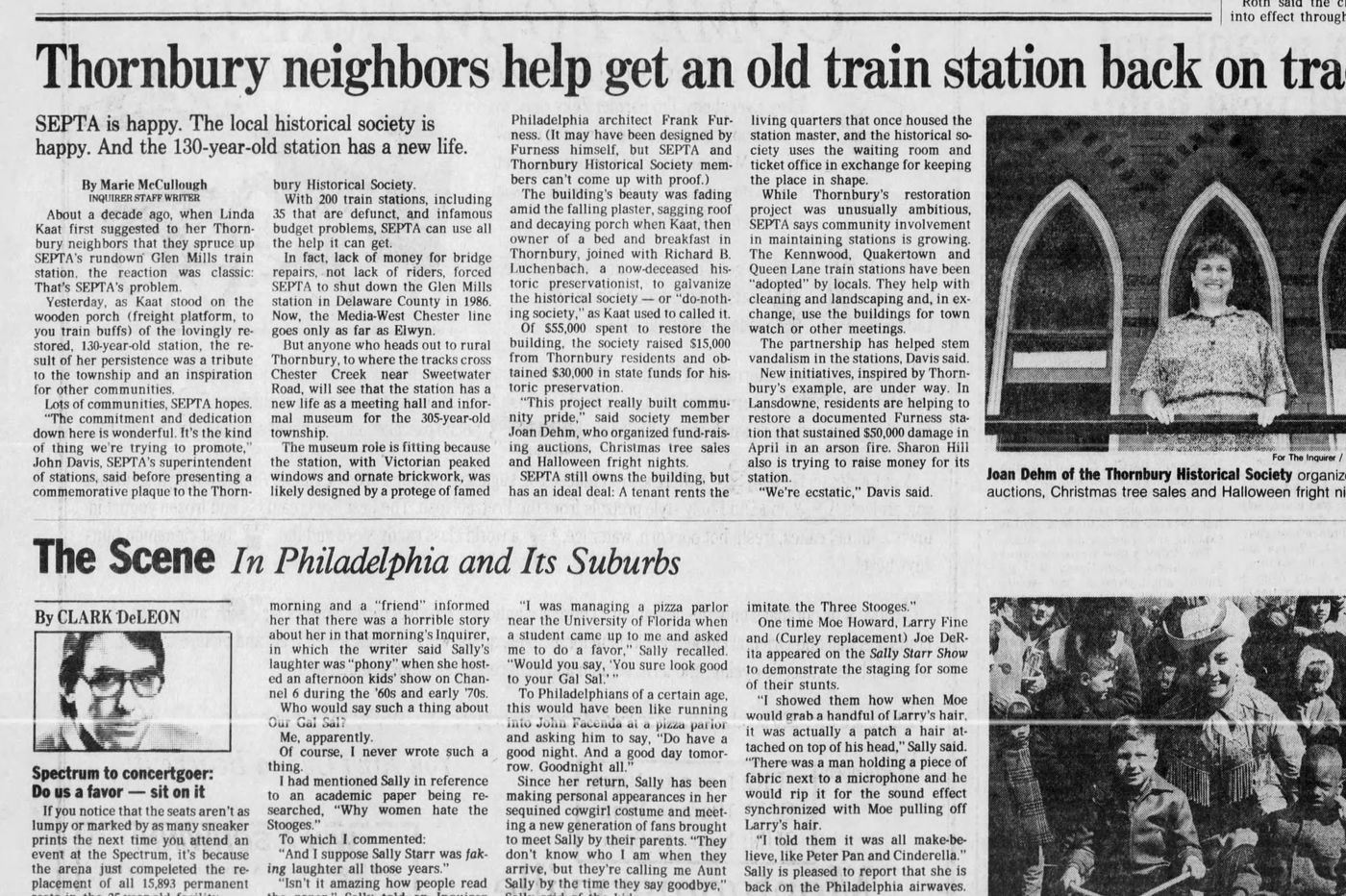 From the Inquirer archives: Sprucing up a SEPTA station in Delco