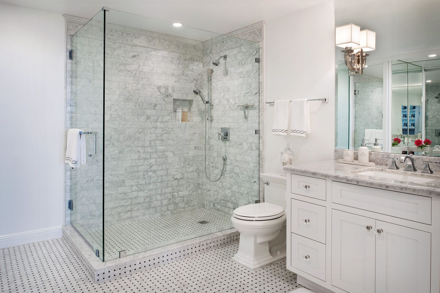 Ask Jennifer Adams: How to keep your glass shower doors clean in a guest bathroom