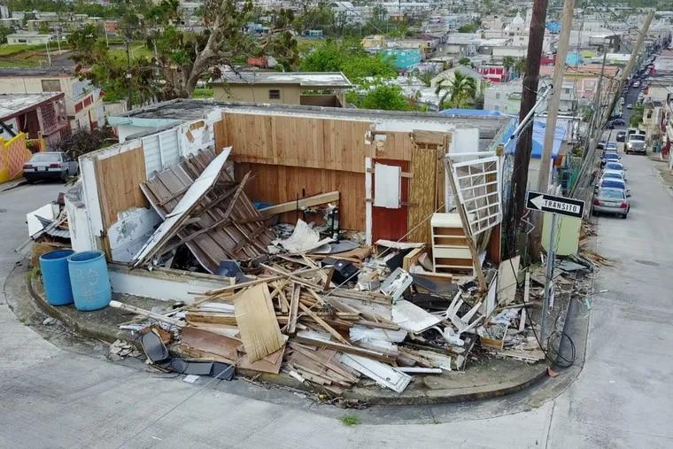 Hurricane Maria damage in Cayey, Puerto Rico.