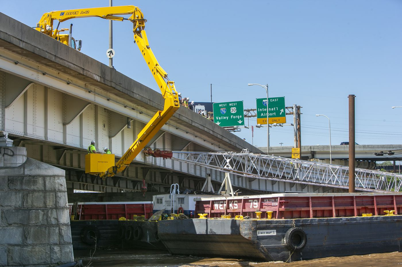 The Vine Street bridge took a hit from a 100-ton barge, but is deemed OK