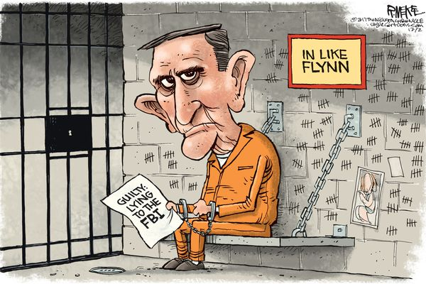 From decorated general to federal court: Michael Flynn from the eyes of cartoonists   Opinion