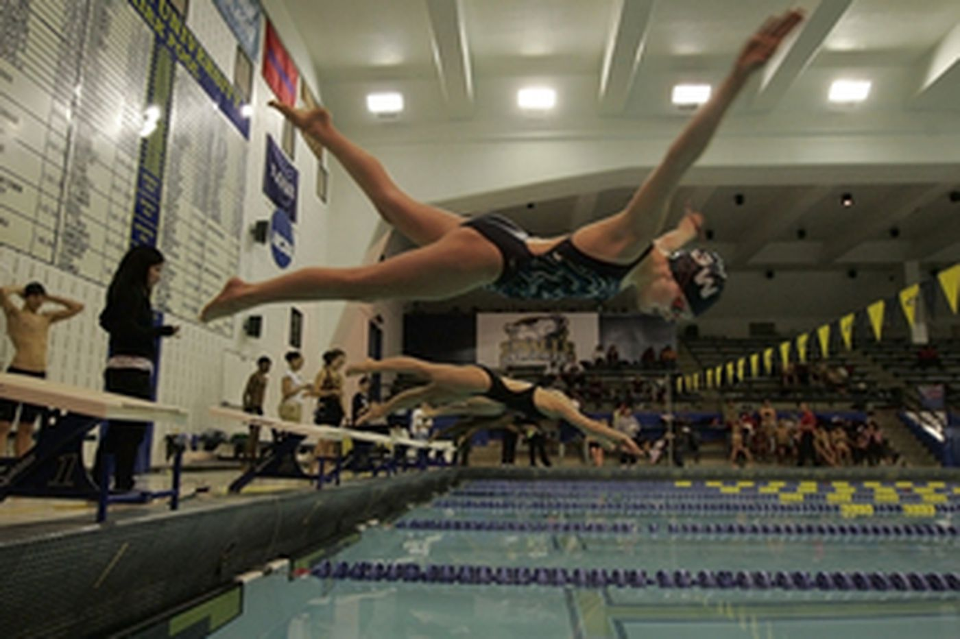 Catholic League swimming championship results: Wood girls and La Salle boys take first-day leads