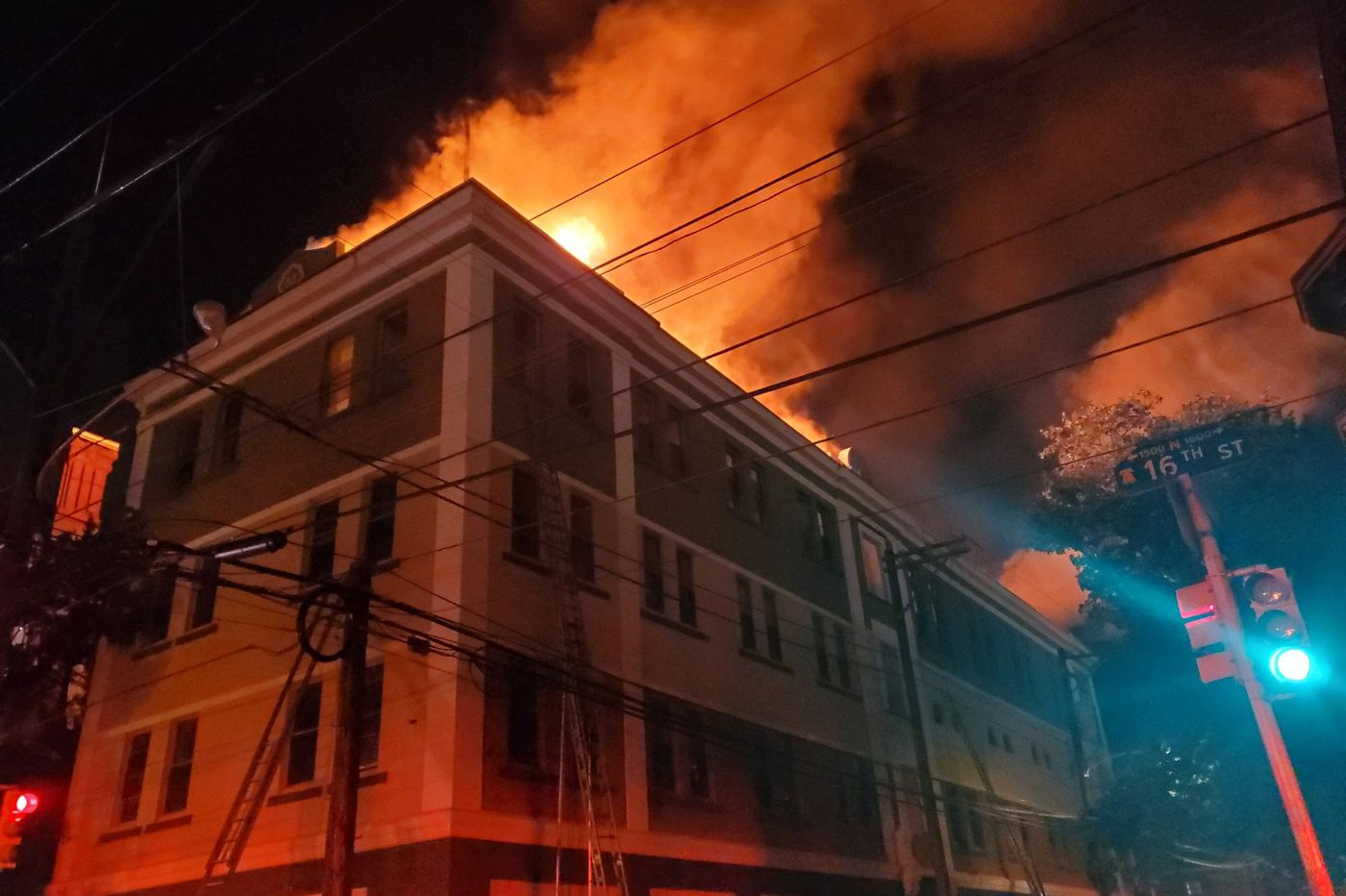 3-alarm fire erupts at 16th and Oxford Streets near Temple University