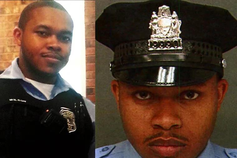 Officer Robert Wilson III. (Photos courtesy Facebook and Philadelphia Police Department)