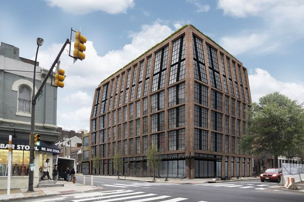 Developer subs mid-rise apartment proposal for condo-and-hotel-tower plan at Old City corner
