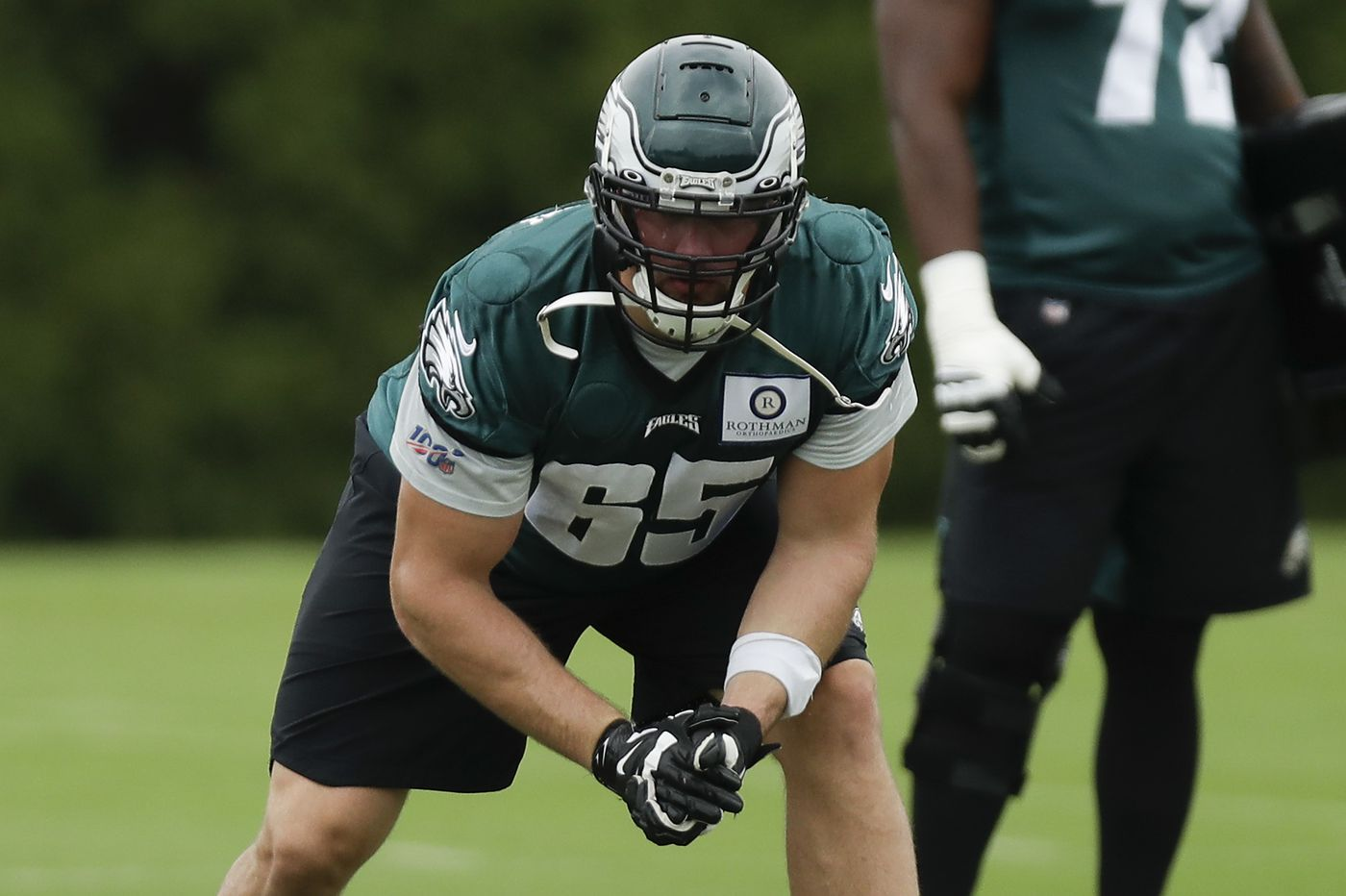 The Eagles' Lane Johnson had minor ankle surgery in August