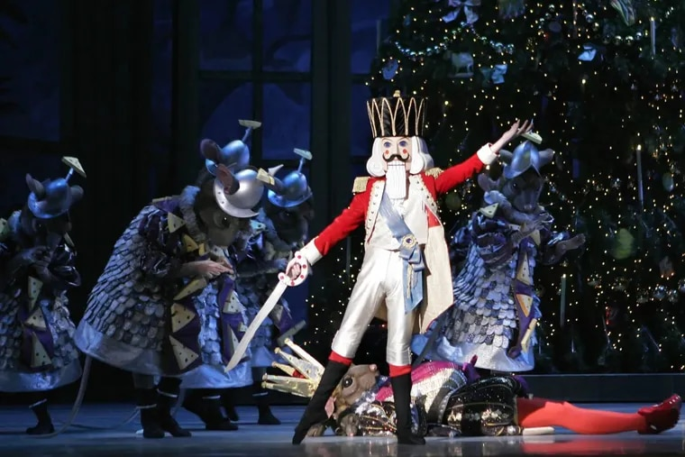 """A scene from George Balanchine's """"The Nutcracker,"""" performed by the Pennsylvania Ballet."""