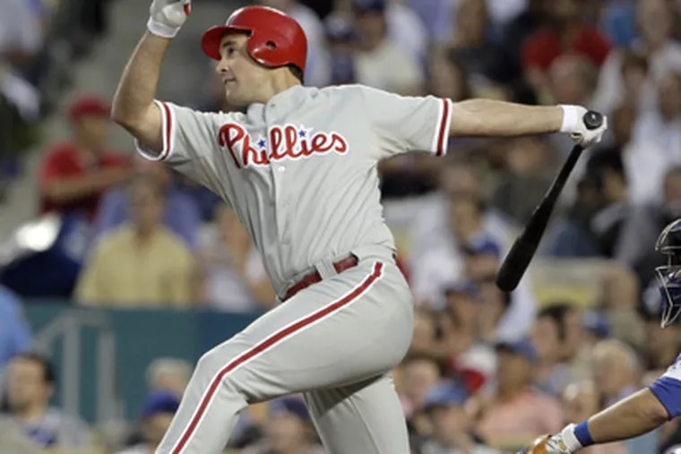 The signing of free agent Raul Ibanez means left field will look different this year: No Pat Burrell.  (Ron Cortes / Staff Photographer)