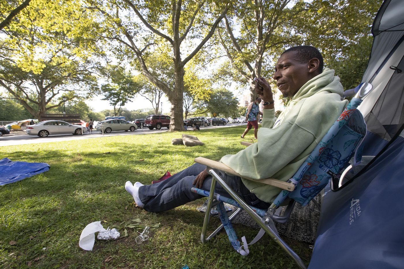 Judge to rule Tuesday on whether city can clear out Parkway homeless encampment