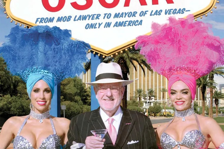 The cover art of Oscar Goodman's new book co-written by George Anastasia.