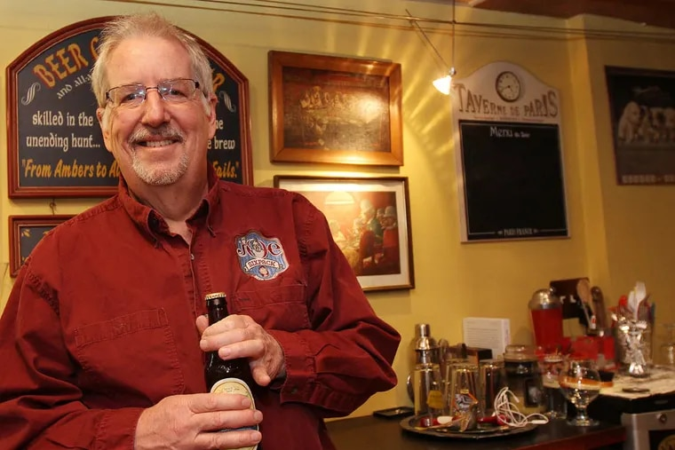 Don Russell, aka Joe Sixpack, pauses before revealing his much-heralded Beer of the Year selection.