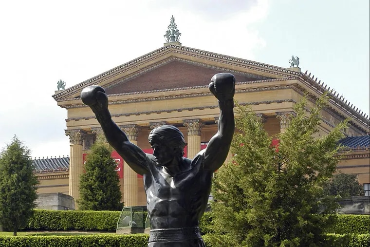 The Rocky statue outside the Philadelphia Museum of Art.