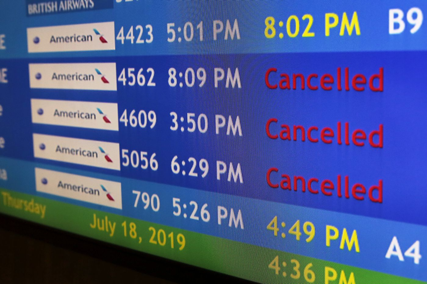 American Airlines' June flight cancellations soared in Philly