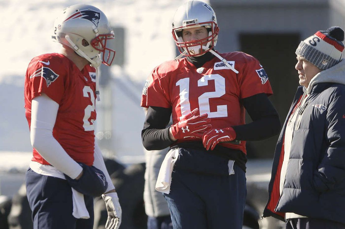 Tom Brady a non practice participant with a hand injury