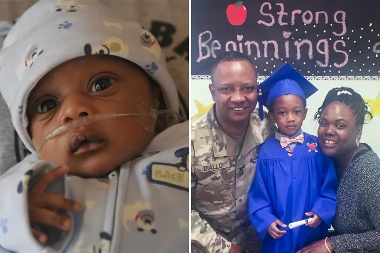 Thanks to a New Jersey mandate that blood oxygen levels be measured in all newborns, Brandon Diallo was diagnosed with a heart defect that was corrected with a 2011 surgery at Children's Hospital of Philadelphia. Shown at right with his father, Mamadou, and mother, Lorretta, he recently turned six.