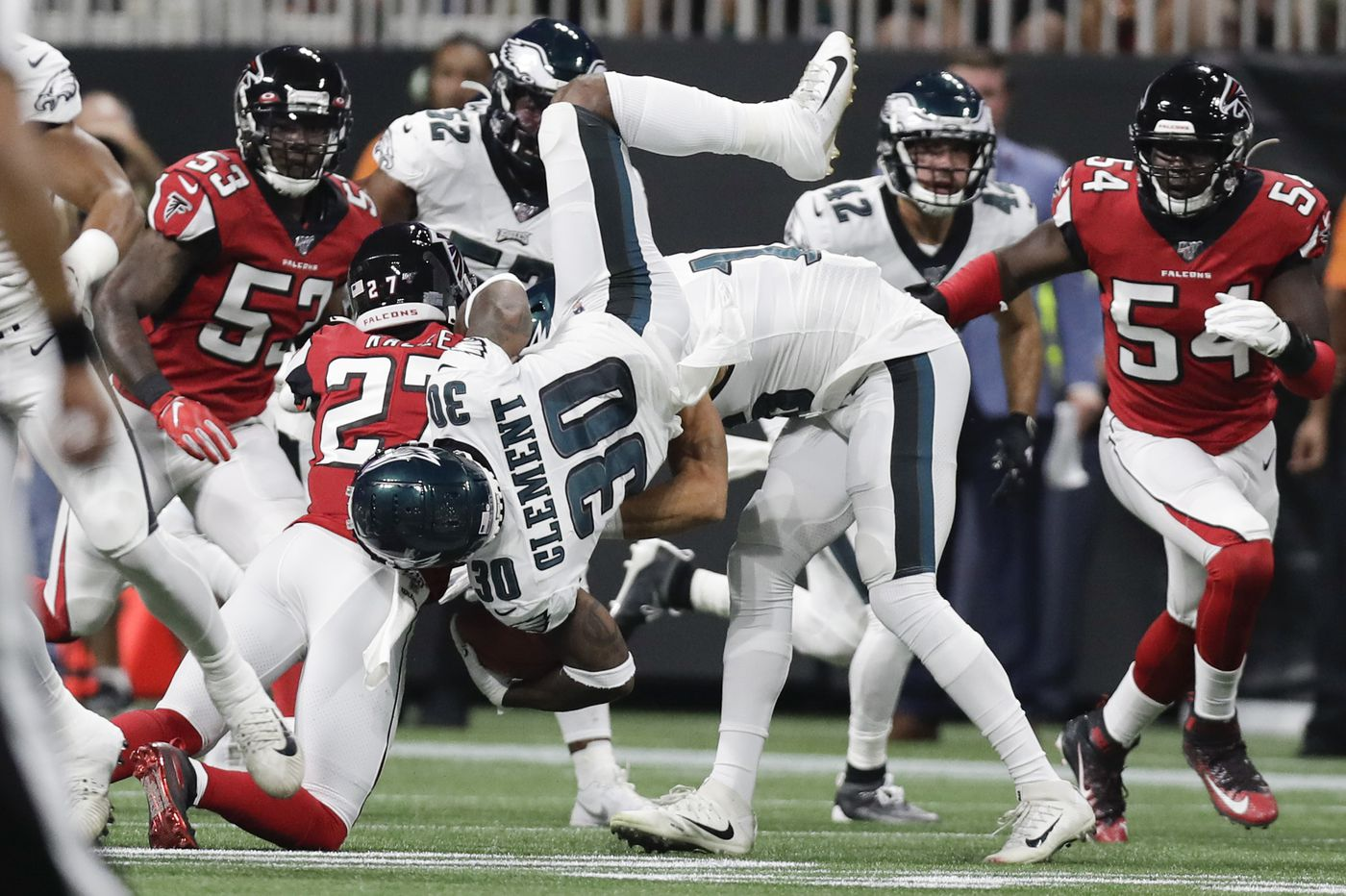 Eagles place RB Corey Clement on injured reserve, promote Boston Scott from practice squad