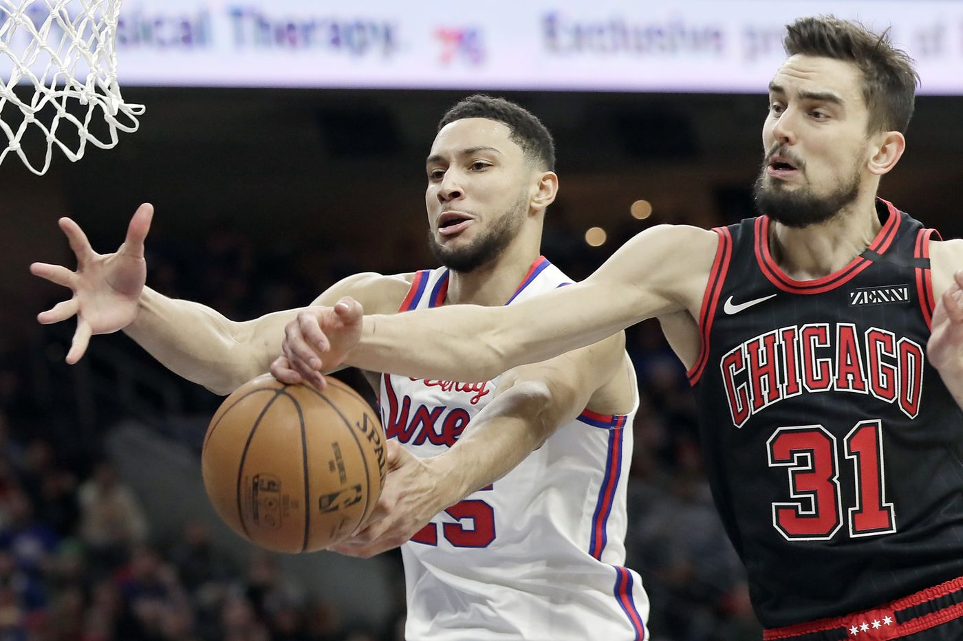 Ben Simmons was a force near the basket in the Sixers' win over the Bulls