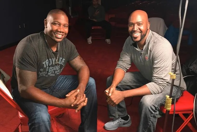 WIP fill-in host and former NBC Sports Philadelphia personality Marshall Harris (right, seen here with former Phillies slugger Ryan Howard), is heading to the West Coast for a new job in Sacramento.