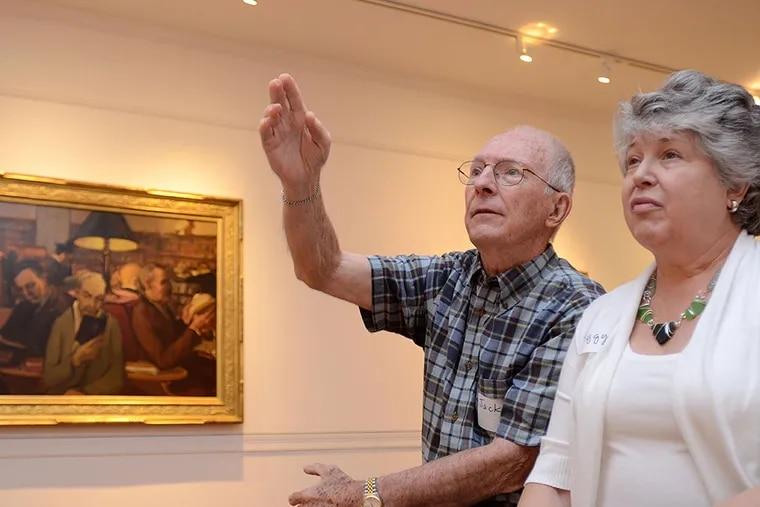 Jack and Peggy Williams tour the Woodmere Art Museum with ARTZ Philadelphia. Jack Williams has Alzheimer's disease. VIVIANA PERNOT / Staff Photographer