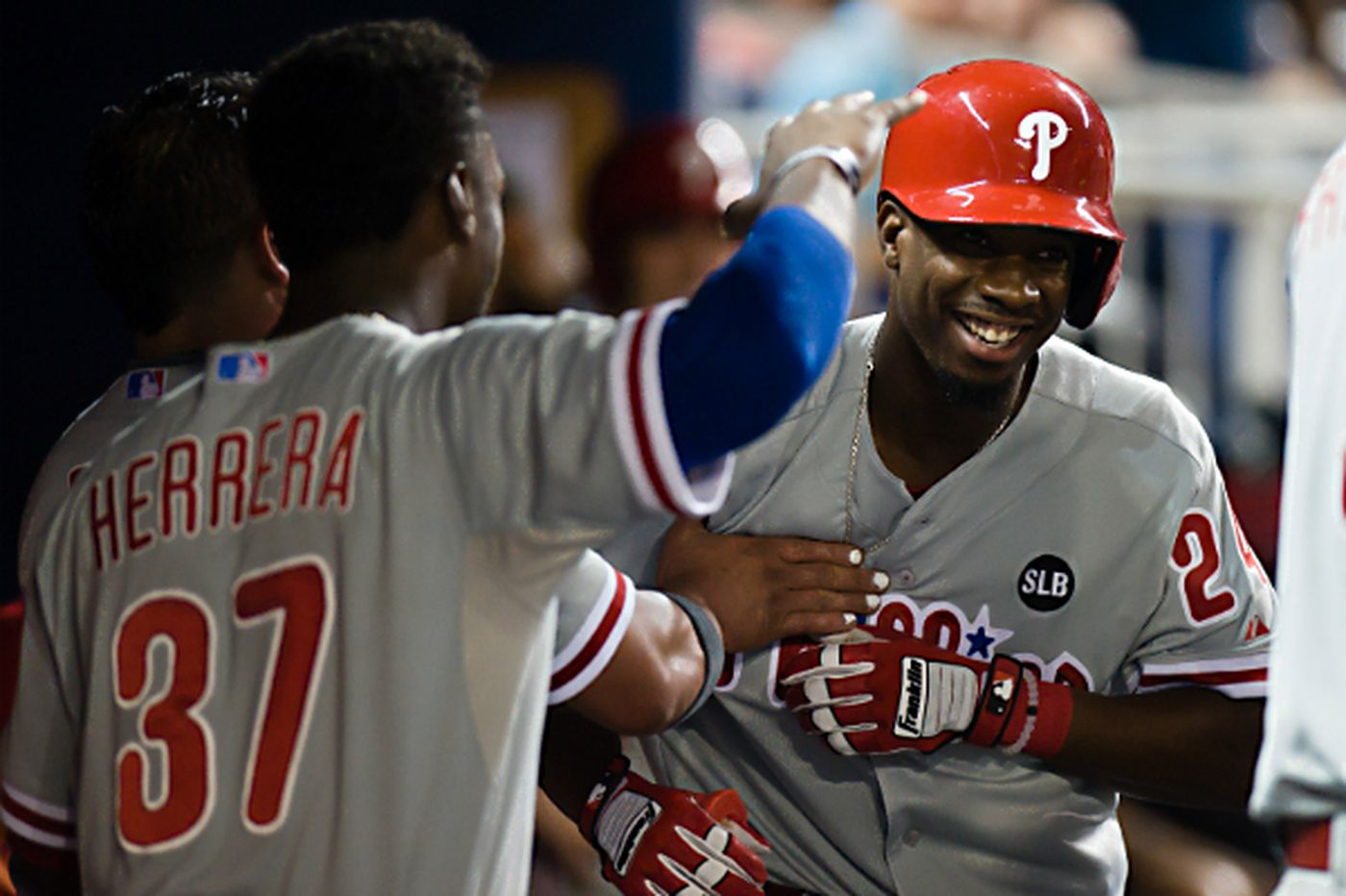 Sweeney's first homer helps Phillies beat Marlins