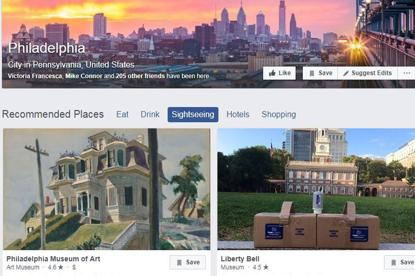 Everybody is in Philly, thanks to a Facebook glitch