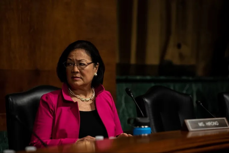 Senator Mazie Hirono listens as the Senate Judiciary Committee holds a hearing for Dr. Christine Blasey Ford to testify about sexual assault allegations against Supreme Court nominee Judge Brett M. Kavanaugh at the Dirksen Senate Office Building on Capitol Hill  last month.